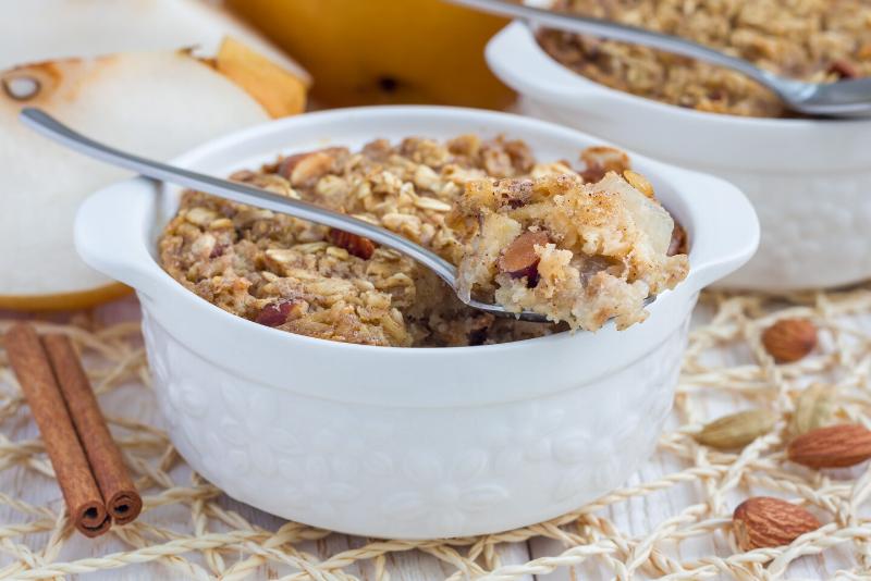Crunchy Pear Cobbler with No Added Sugar | Bonnie Taub-Dix