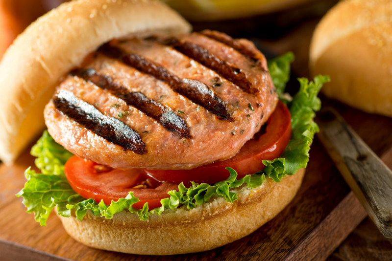 Easy Healthy Salmon Burgers | Easy to make, protein packed salmon burgers make the perfect weeknight dinner or meal prep item the WHOLE family will love! Perfect for grilling season too.